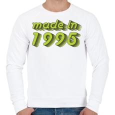 PRINTFASHION made-in-1995-green-grey - Férfi pulóver - Fehér