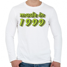PRINTFASHION made-in-1999-green-grey - Férfi hosszú ujjú póló - Fehér