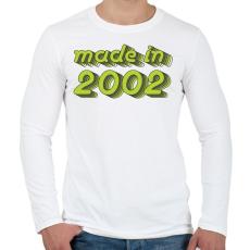 PRINTFASHION made-in-2002-green-grey - Férfi hosszú ujjú póló - Fehér