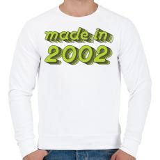 PRINTFASHION made-in-2002-green-grey - Férfi pulóver - Fehér