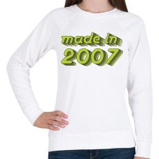 PRINTFASHION made-in-2007-green-grey - Női pulóver - Fehér
