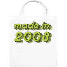 PRINTFASHION made-in-2008-green-grey - Vászontáska - Fehér