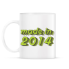 PRINTFASHION made-in-2014-green-grey - Bögre - Fehér