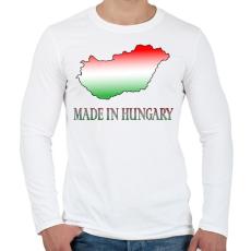 PRINTFASHION Made In Hungary - Férfi hosszú ujjú póló - Fehér