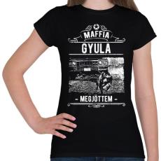 PRINTFASHION Maffia Gyula - Női póló - Fekete
