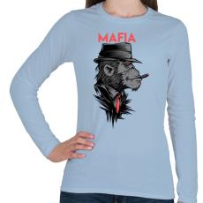 PRINTFASHION MAFIA - Női hosszú ujjú póló - Világoskék