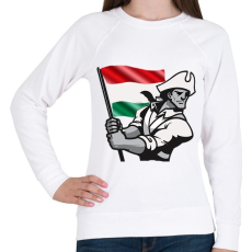 PRINTFASHION Magyar Patrióta  - Női pulóver - Fehér