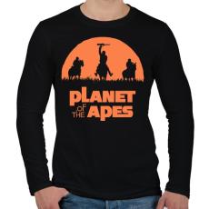 PRINTFASHION Majmok bolygója - Férfi hosszú ujjú póló - Fekete