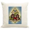PRINTFASHION Majmok - Párnahuzat, Díszpárnahuzat - Lenvászon