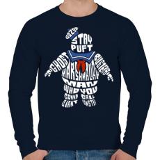PRINTFASHION Mályvacukor ember - Férfi pulóver - Sötétkék
