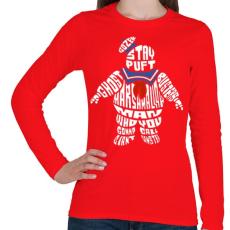 PRINTFASHION Mályvacukor ember - Női hosszú ujjú póló - Piros