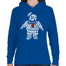 PRINTFASHION Mályvacukor ember - Női kapucnis pulóver - Királykék