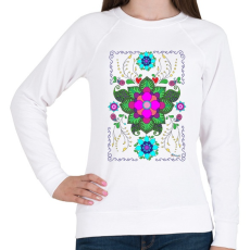 PRINTFASHION Mandala minta 1. - Női pulóver - Fehér