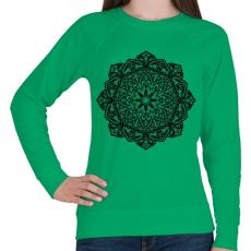 PRINTFASHION Mandala - Női pulóver - Zöld