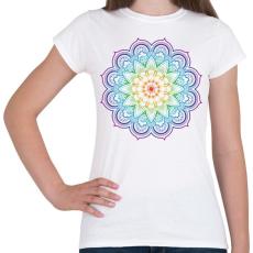 PRINTFASHION Mandala virág - Női póló - Fehér