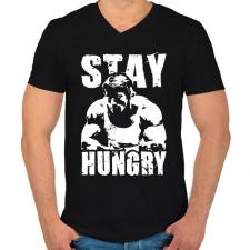 PRINTFASHION Maradj éhen! - Férfi V-nyakú póló - Fekete férfi póló