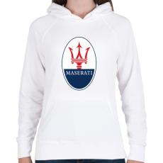 PRINTFASHION Maserati - Női kapucnis pulóver - Fehér