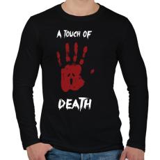 PRINTFASHION Megérint a halál - Férfi hosszú ujjú póló - Fekete