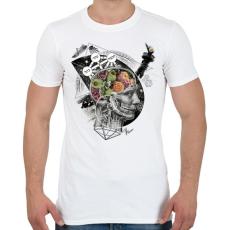 PRINTFASHION Megvilágosodás  - Férfi póló - Fehér