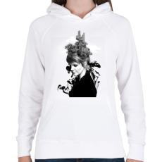 PRINTFASHION Melting beauty - Női kapucnis pulóver - Fehér