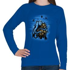 PRINTFASHION Mélytengeri szörny - Női pulóver - Királykék
