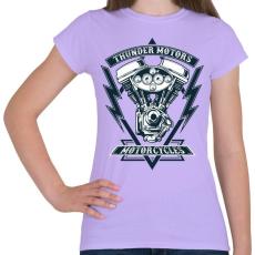 PRINTFASHION Mennydörgő motorok - Női póló - Viola
