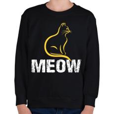PRINTFASHION MEOW - Gyerek pulóver - Fekete