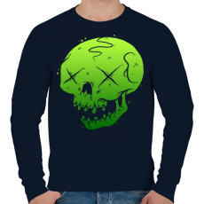 PRINTFASHION Méreg - Férfi pulóver - Sötétkék