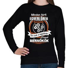 PRINTFASHION Mérnökök - Női pulóver - Fekete