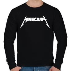 PRINTFASHION METÁL minecraft - Férfi pulóver - Fekete