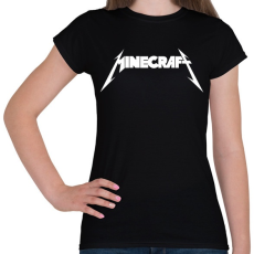 PRINTFASHION METÁL minecraft - Női póló - Fekete