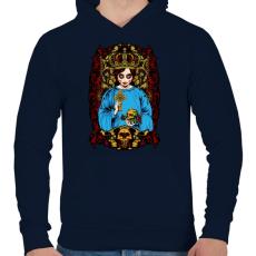 PRINTFASHION Mexikói - Férfi kapucnis pulóver - Sötétkék