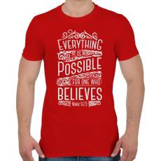 PRINTFASHION Minden lehetséges - Férfi póló - Piros