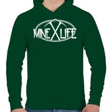 PRINTFASHION Minecraft - bányász élet - Férfi kapucnis pulóver - Sötétzöld
