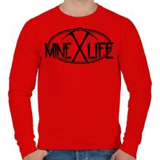 PRINTFASHION Minecraft - bányász élet - Férfi pulóver - Piros