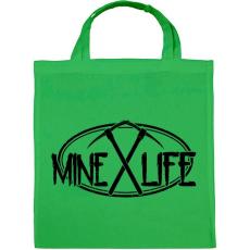 PRINTFASHION Minecraft - bányász élet - Vászontáska - Zöld
