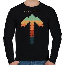 PRINTFASHION Minecraft bányász - Férfi pulóver - Fekete