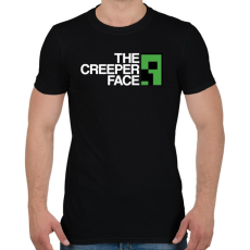 PRINTFASHION Minecraft - Creeper Face - Férfi póló - Fekete