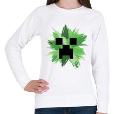 PRINTFASHION Minecraft Creeper - Női pulóver - Fehér