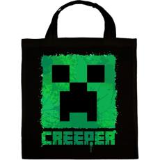 PRINTFASHION Minecraft Creeper - Vászontáska - Fekete