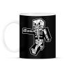 PRINTFASHION Minecraft csontváz - Bögre - Fekete
