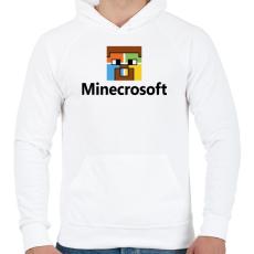 PRINTFASHION Minecrosoft - Férfi kapucnis pulóver - Fehér