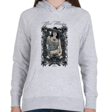 PRINTFASHION Miss macséta - Női kapucnis pulóver - Sport szürke