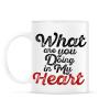PRINTFASHION Mit csinálsz a szívemmel? - Bögre - Fehér