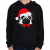 PRINTFASHION Mopsz karácsony - Gyerek kapucnis pulóver - Fekete