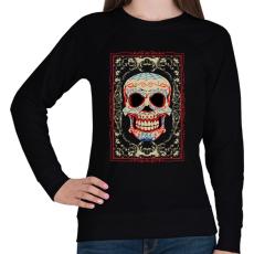 PRINTFASHION Mosolygó koponya - Női pulóver - Fekete
