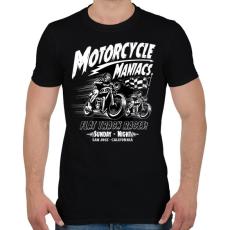PRINTFASHION Motor mánia - Férfi póló - Fekete