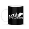 PRINTFASHION Motoros evolúció - Bögre - Fekete