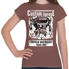 PRINTFASHION Motorszerelő - Női póló - Mogyoróbarna