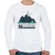PRINTFASHION Mountain - Férfi hosszú ujjú póló - Fehér